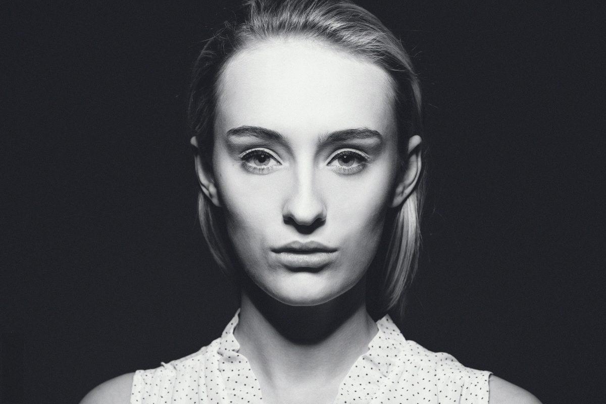 Schwarz-Weiß Portraitfoto